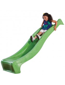 Plastic Slide for 1.5 metre high deck LIME GREEN Slide (3.0m) with WATER ATTACHMENT